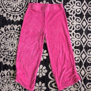 GAP pink ruched  side elastic waist terry pant
